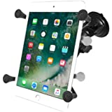 "RAM Mounts (RAM-B-166-UN8) Twist Lock Suction Cup Mount with Universal X-Grip Ii Holder for 7"" Tablets Including the Ipad Mini 1-3"