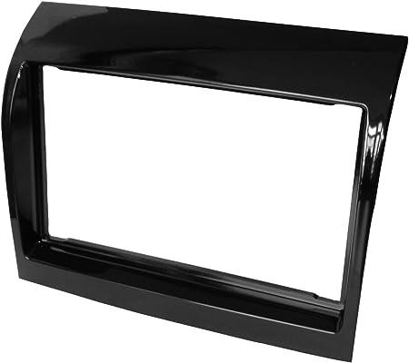 Mascherina adattatore autoradio telaio doppio 2 DIN nera . Aerzetix