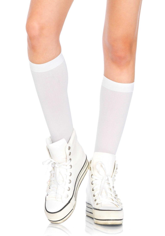 Leg Avenue Women's Nylon Opaque Knee High Socks
