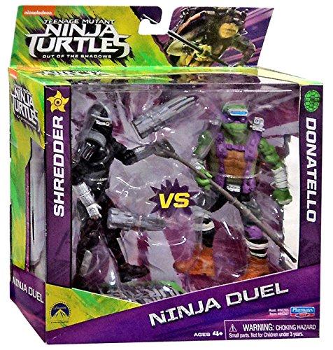 Teenage Mutant Ninja Turtles Out of the Shadows Ninja Duel Shredder vs Donatello 5 Action Figure (Ninja Turtle Blue)