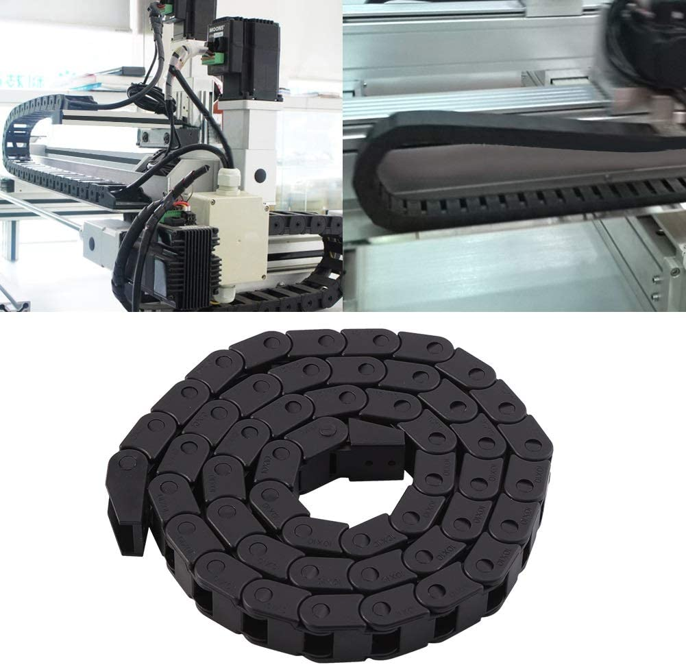 BiuZi R28 Black Nylon Cable 1000mm//40 Long For 3D Printer//CNC Router Machine Drag Chain Wire Carrier Wire Carrier
