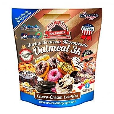 Max Protein Harina de Avena sabor Choco-Cream Cookies - 3 kg: Amazon.es: Alimentación y bebidas