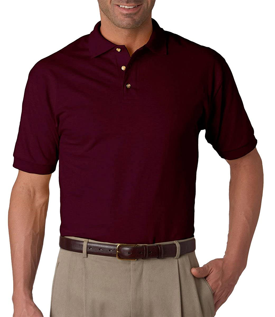 Jerzees Mens Short-Sleeve Double Needle Sport Polo Shirt