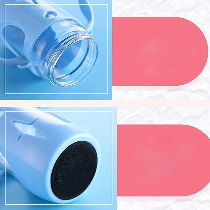 ED-Lumos Botella infantil con Pajita Diseño intersante con Oreja con2 mangos 300 ML Color Rosa: Amazon.es: Deportes y aire libre