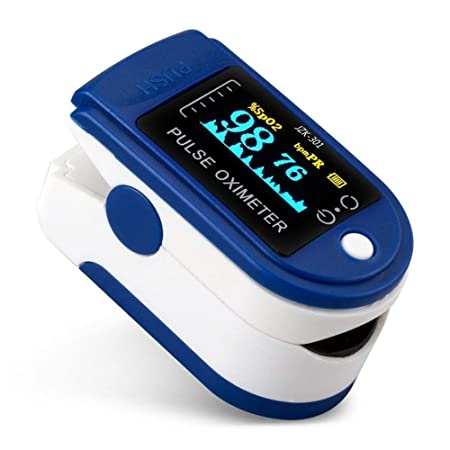 Fingertip Pulse Oxymeter Professional Series Finger Tip Pulse Oxi-meter With Audio Visual Alarm and Respiratory Rate