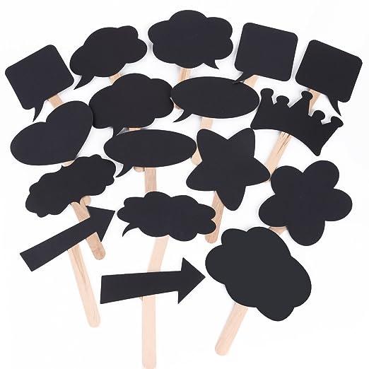 CLE DE TOUS - Pack 18 pizarras bocadillo para photocall Boda Fiestas Cumpleaños Carteles Personalizados Divertidos