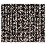 CROWN OE0035BR Oxford Elite Wiper/Scraper Mat, 36 x 60, Black/Brown