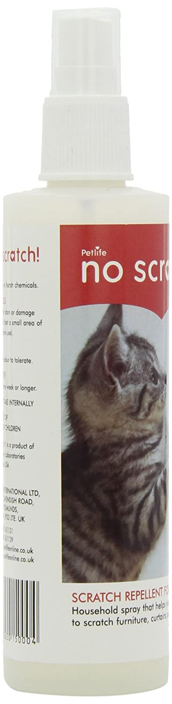 Petlife No Scratch Cat Scratch Repellent, 150 Ml: Amazon.co.uk: Pet Supplies