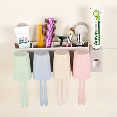 Wash Kit Automatic Toothpaste Wall Mounted Toothbrush Holder Suit