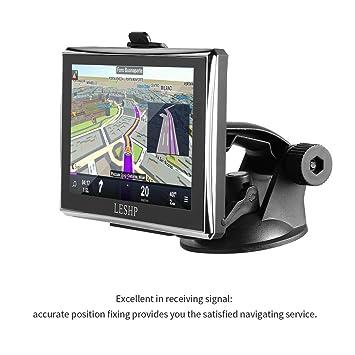 Coche GPS navegación 5 pulgadas leshp pantalla táctil GPS dispositivo con built-in 8 GB ROM, FM, MP3, MP4, mapas de por vida: Amazon.es: Electrónica