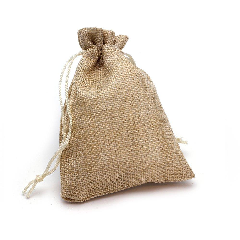 Ruby–50 Stück, 14x 10 cm, Jutesack zum Verpacken von Geschenken oder Schmuck Ruby abalorios SY14010
