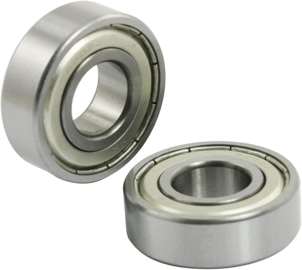 RETYLY 5 pezzi 6202Z metallo schermato 15 mm x 35 mm x 11 mm profondo della scanalatura cuscinetto a sfere