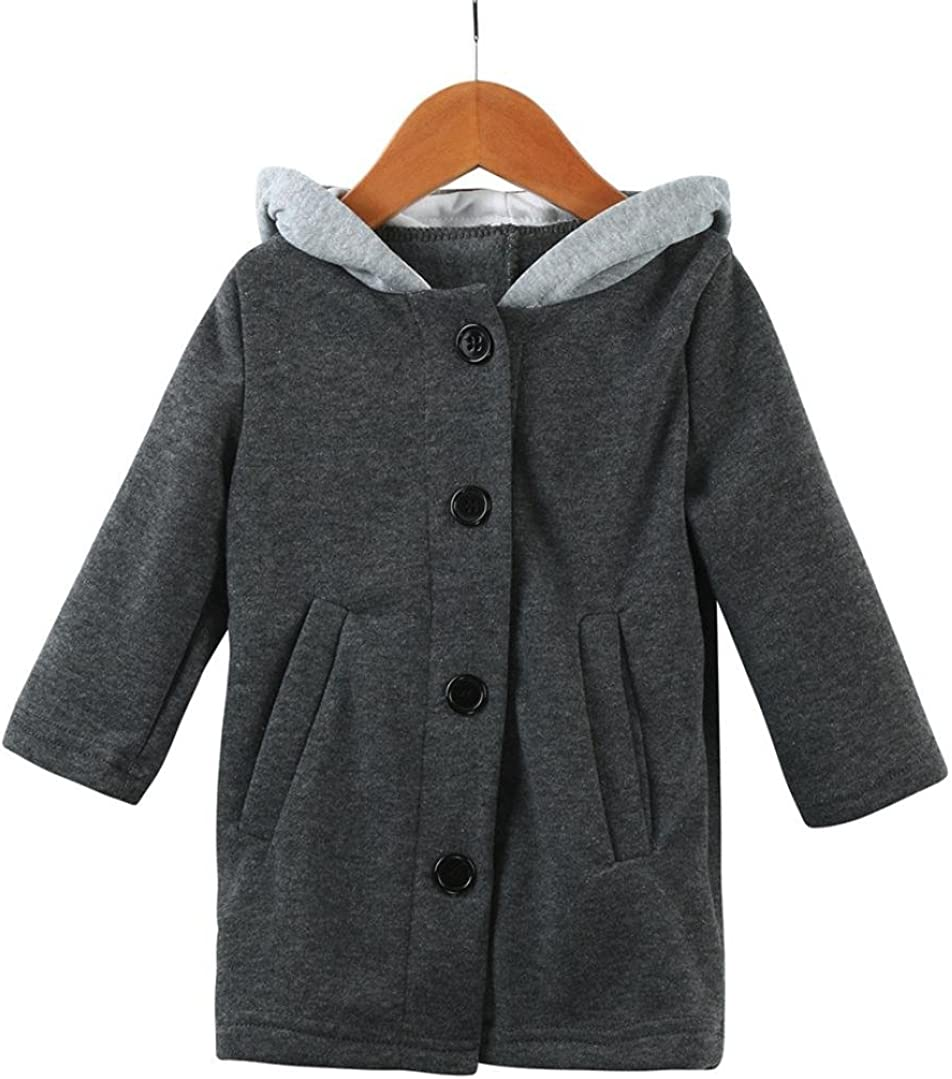 Lavany Cute Infant Baby Autumn Winter Hooded Coat Rabbit Jacket Thick Clothes