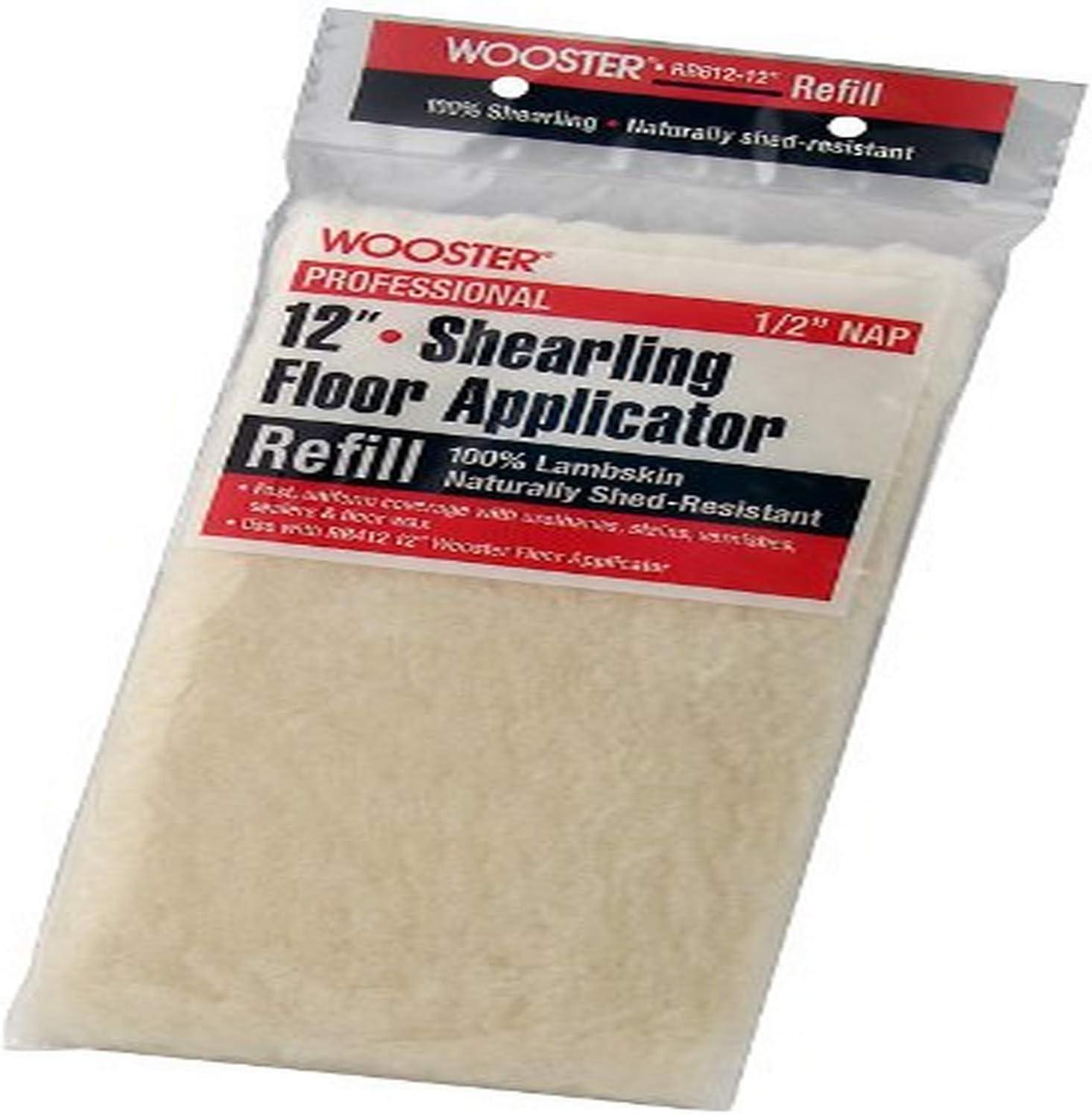 Wooster Brush RR612-12 Shearling Floor Applicator Refill 1/2-Inch Nap, 12-Inch