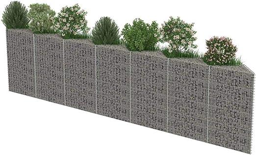 vidaXL Muro de Gaviones de Acero 450x30x100 cm Macetero y Tiestos Jardinería: Amazon.es: Jardín