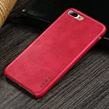 iPhone 7 Plus Case, iPhone 8 Plus Case, X-Level Premium PU Leather Case [Vintage Series] Slim Fit Lightweight Soft Back Protective Cover for iPhone 7 Plus(2016)/iPhone 8 Plus(2017) 5.5'' (Red)