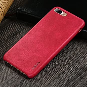 iphone 7 plus case leather red