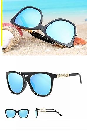 Gafas de Sol Polarizadas Moda Gafas de Sol de Gafas Grandes Gafas de Sol Y Gafas de Sol , Brillante Marco Negro Azul Hielo: Amazon.es: Deportes y aire libre