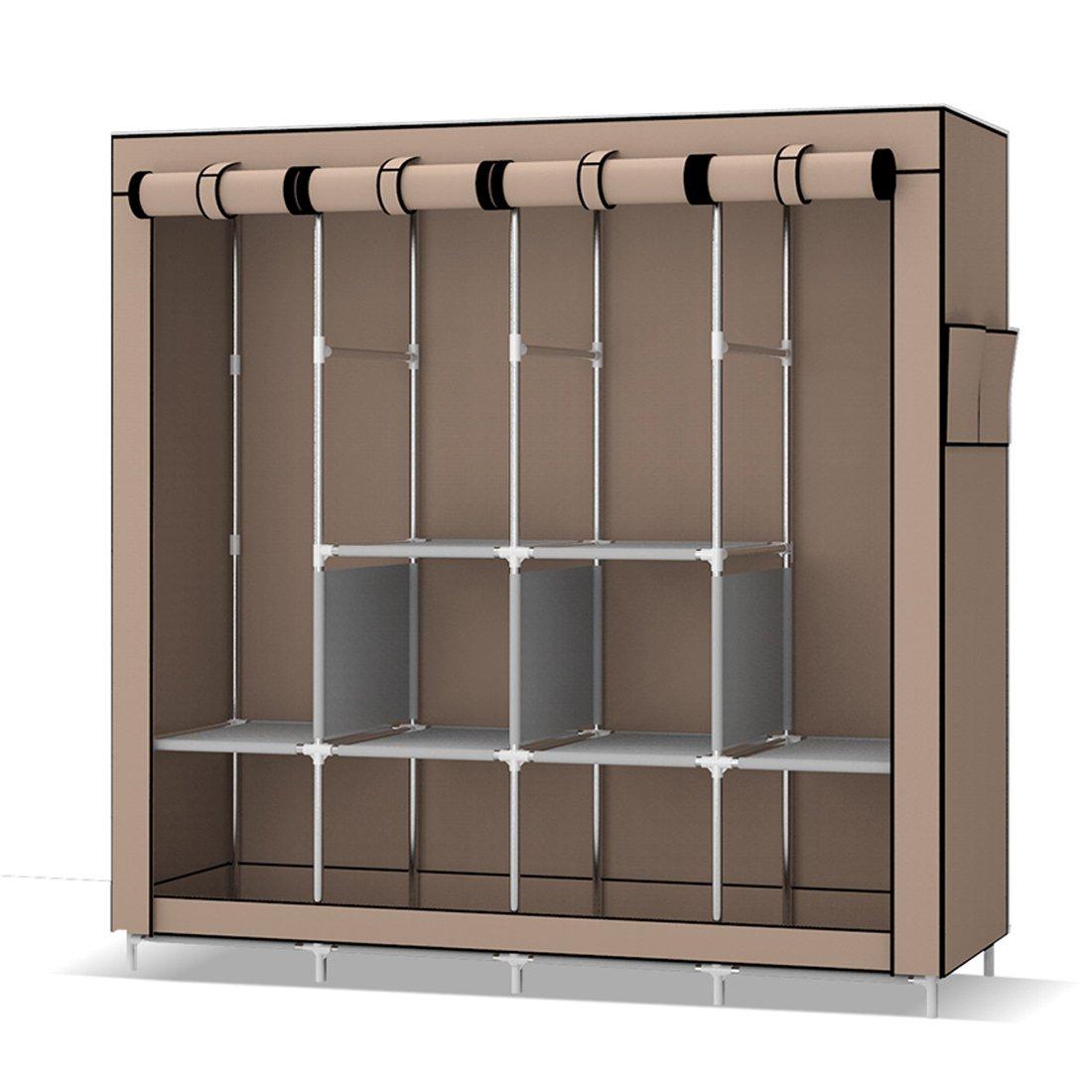 Armario de tela plegable ropa organizador | Mueble Deluxe de lujo ...