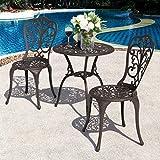 Nuu Garden 3 Piece Bistro Table Set Outdoor with