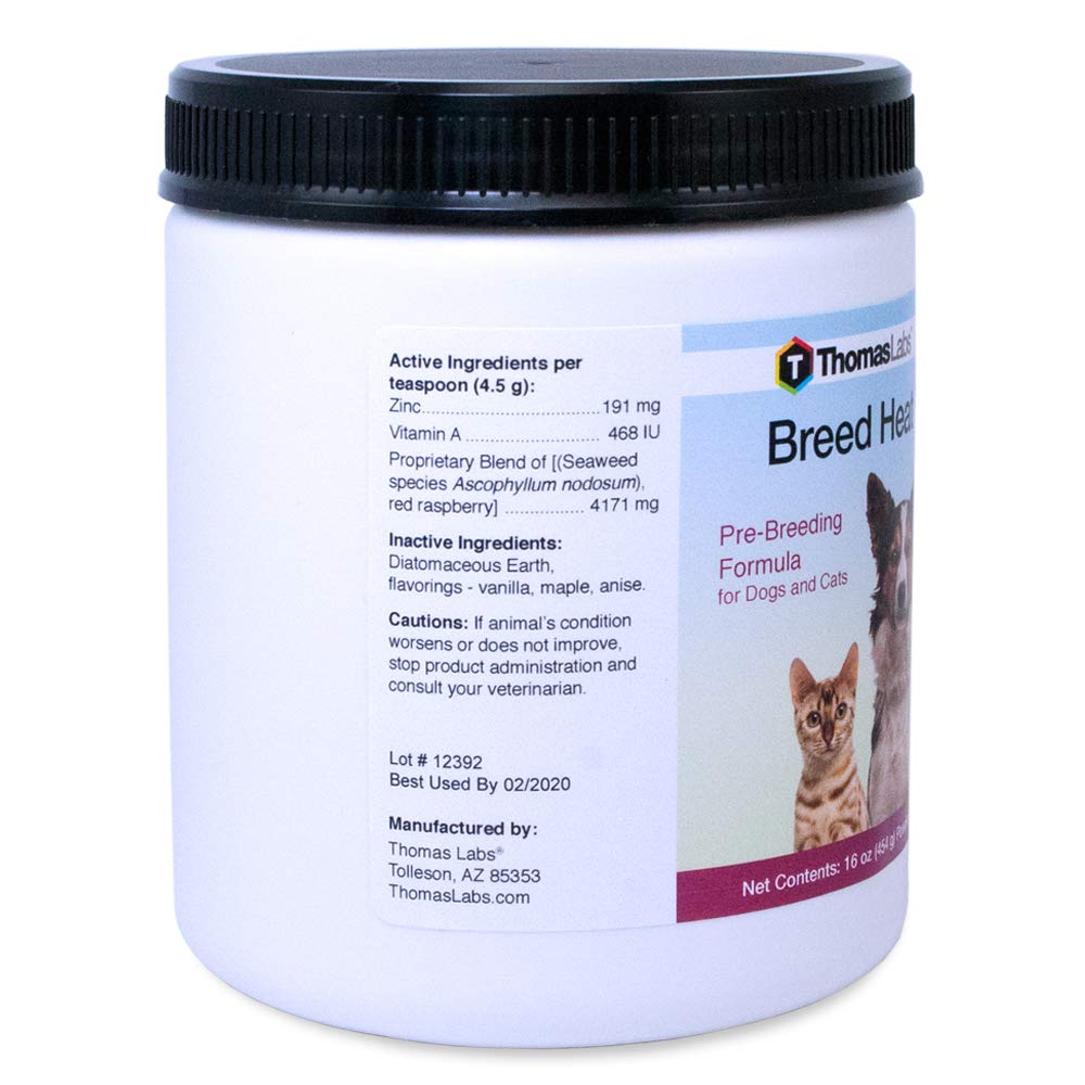 Best Cat Food 2020.Thomas Labs Breed Heat Breeding Reproductive Supplement For Dogs Cats Herbal Based Formula