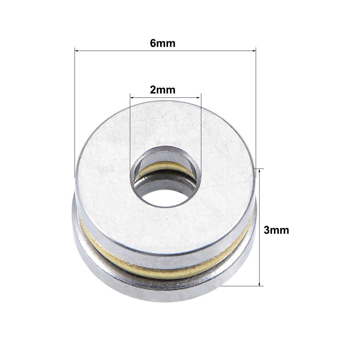 1Qt/é sourcing map Miniature Thrust Bille Roulements Chrome Acier Roulement F8-16
