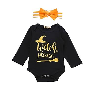 874bf7e38 Amazon.com  Unmega Baby Girl Boy Halloween Romper Long Sleeve ...