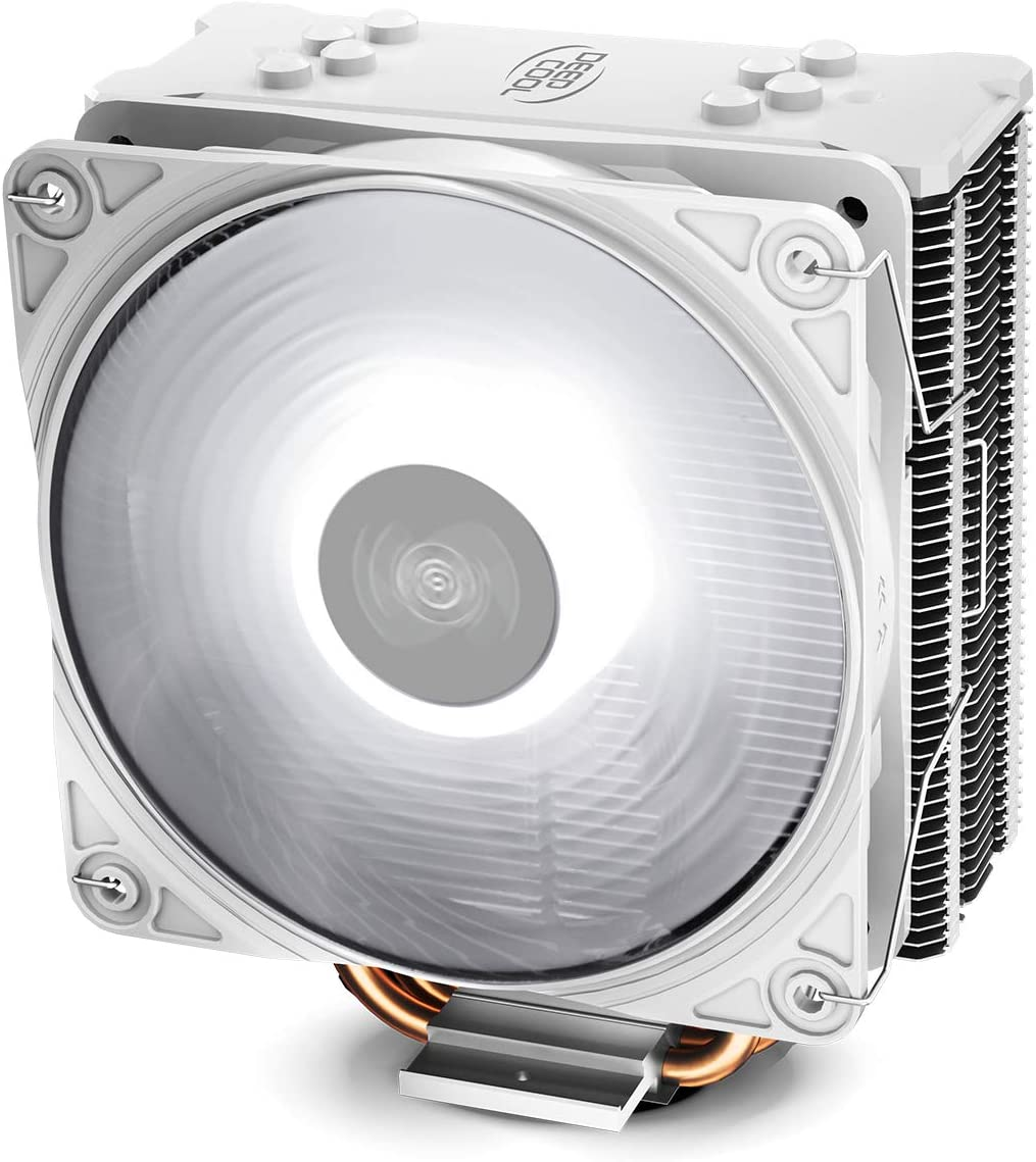 DEEP COOL GAMMAXX GTE V2 Blanco, Disipador de CPU, con 4 Tubos de Calor, un 120 mm CPU Ventilador PWM de LED Blanco, Compatible con Intel/AMD