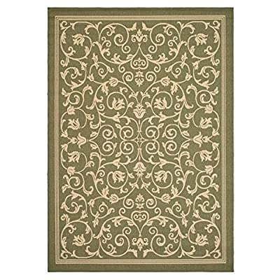Safavieh Courtyard Collection CY1972-3001 Natural and Brown Indoor/ Outdoor Area Rug