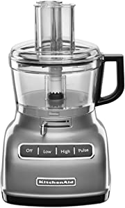 KitchenAid KFP0722WH 7-Cup Food Processor with Exact Slice System - White (Renewed)