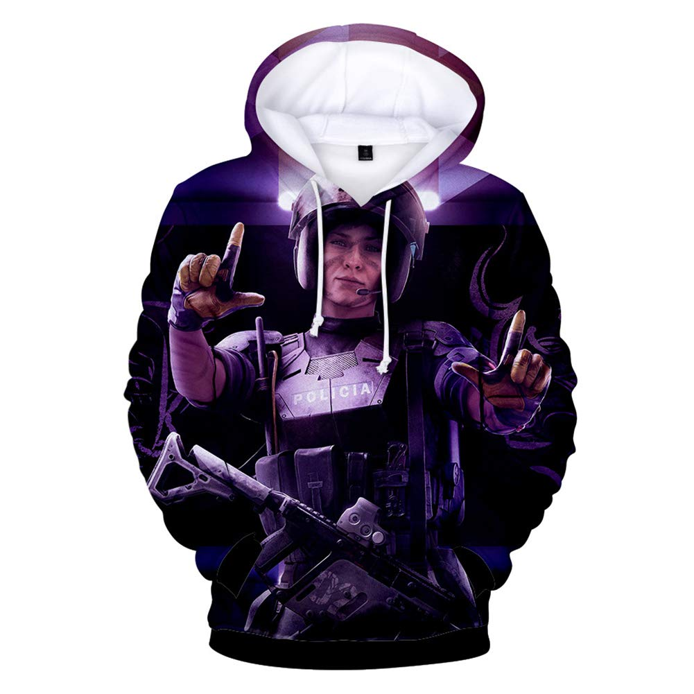 YzGoods Mens Fashion Hoodie Rainbow Six Siege Hooded Sweatshirt for Men Women