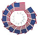 12 Pack 9.25×13 USA American U.S.A. Car Window Clip on Vehicle 9.25″x13″ Flag PREMIUM Vivid Color and UV Fade BEST Garden Outdor Decor Resistant Canvas Header and polyester material FLAG Review