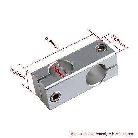 Yibuy Conectores de Eje Lineal de Doble Tubo para Brazo Robot ...