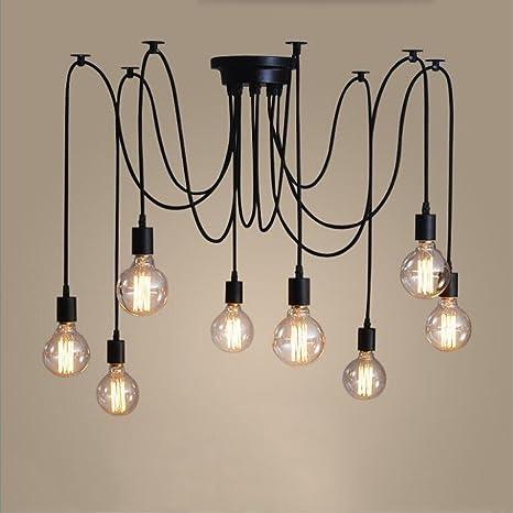 Creative Vintage lámpara de araña (hada Retro Edison Lámpara ...