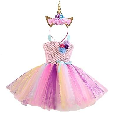 Lcxyyy Lcxyyy Madchen Einhorn Prinzessin Kleid Kostum Karneval