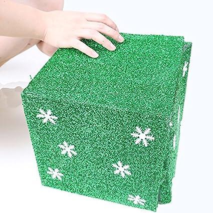 rurah creativo cartulina para manualidades con brillantina papel cajas de caramelos en blanco caja de regalo