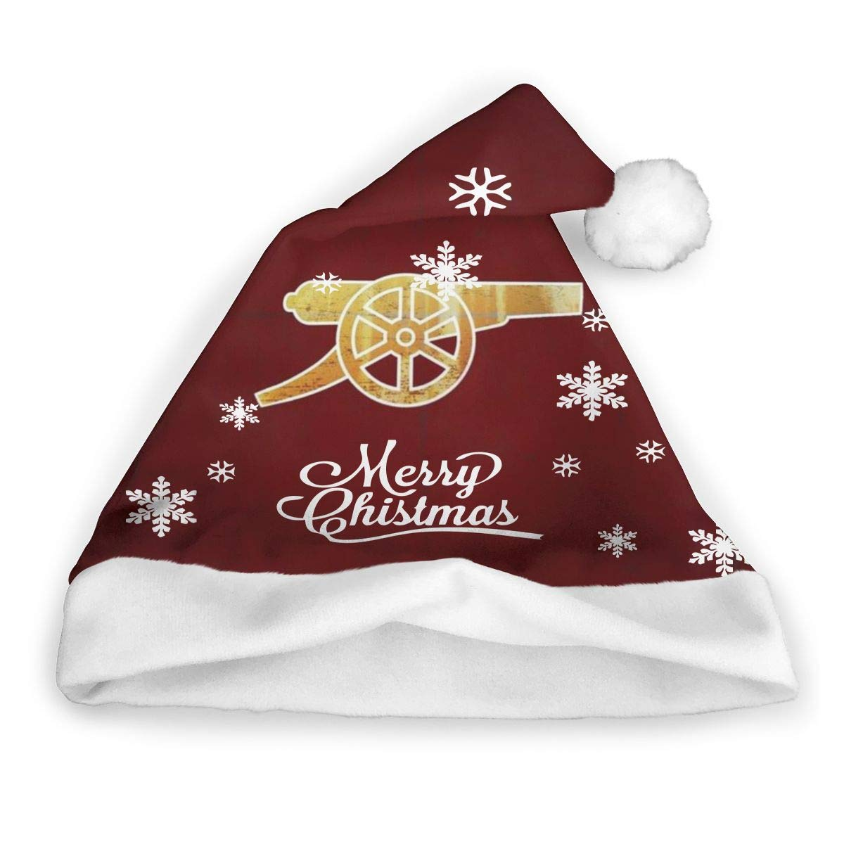 Plaid Red and Black Funny Christmas Santa Hat Novelty Xmas Holiday Hats for Adults and Kids