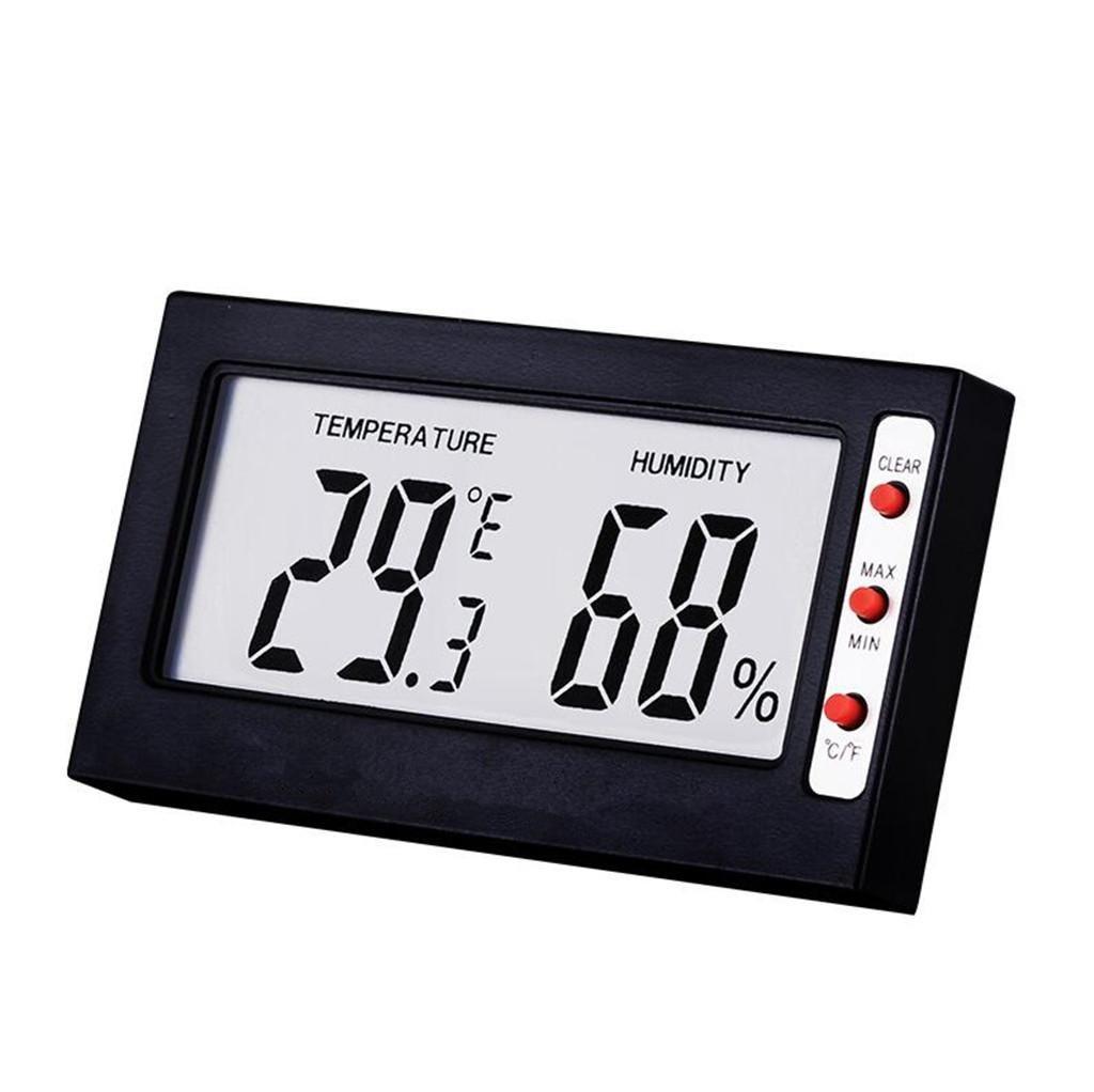 Igrometro elettronico della temperatura, temperatura e umidità dell'esposizione digitale LCD, mini ornamenti da laboratorio interno igrometro LLVVThermo-hygrometer
