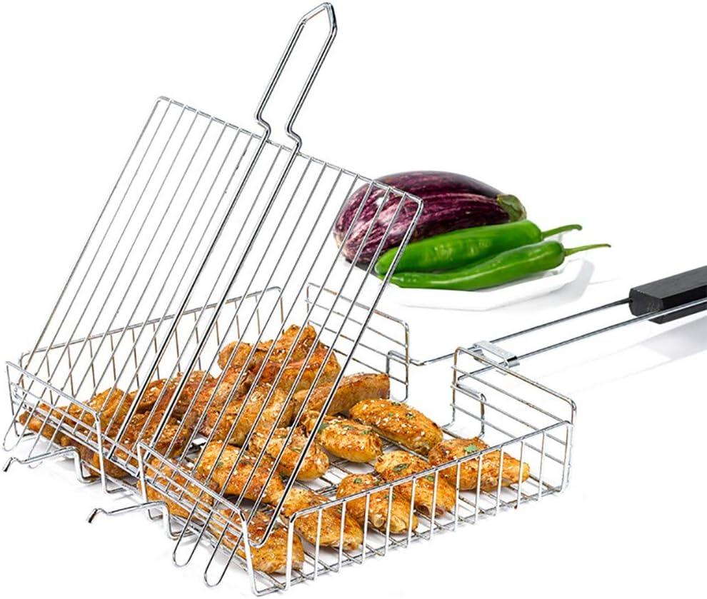 JANRON Grille de Barbecue Portable Universelle en Acier