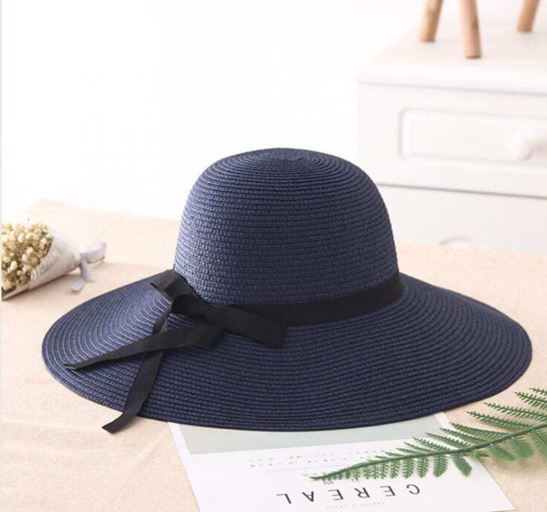 Summer Straw hat Women Big Wide Brim Beach hat Sun hat Foldable Sun Block UV Protection Panama hat Bone Feminino