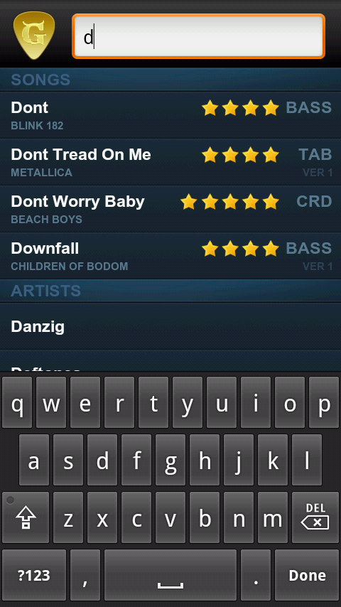Amazon Ultimate Guitar Tabs And Tools Appstore For Android