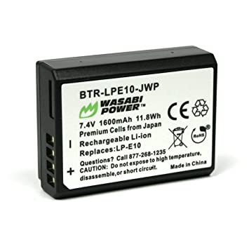 Amazon.com: Wasabi Power – Batería y Cargador para Canon LP ...