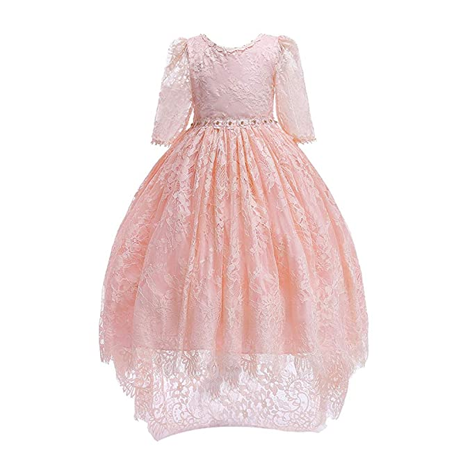hibote Encaje Vestido Niña Flores Vestidos para Niñas Vestidos ...