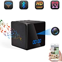 Cámara Espía Oculta WiFi TANGMI Altavoz Bluetooth Despertador