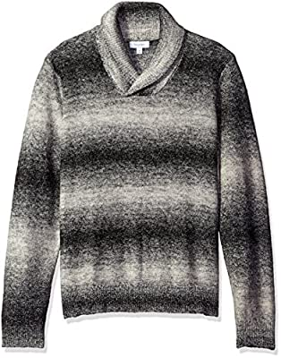 Calvin Klein Men's Space Dye Shawl Neck Sweater