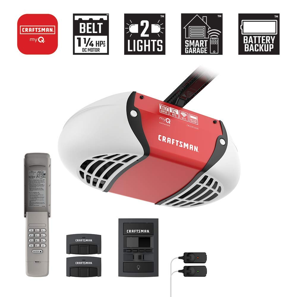 Craftsman CMXEOCG981 Garage Door Opener, Red