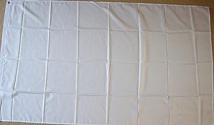 3 x 2 NEW EYELETS PLAIN WHITE FLAG
