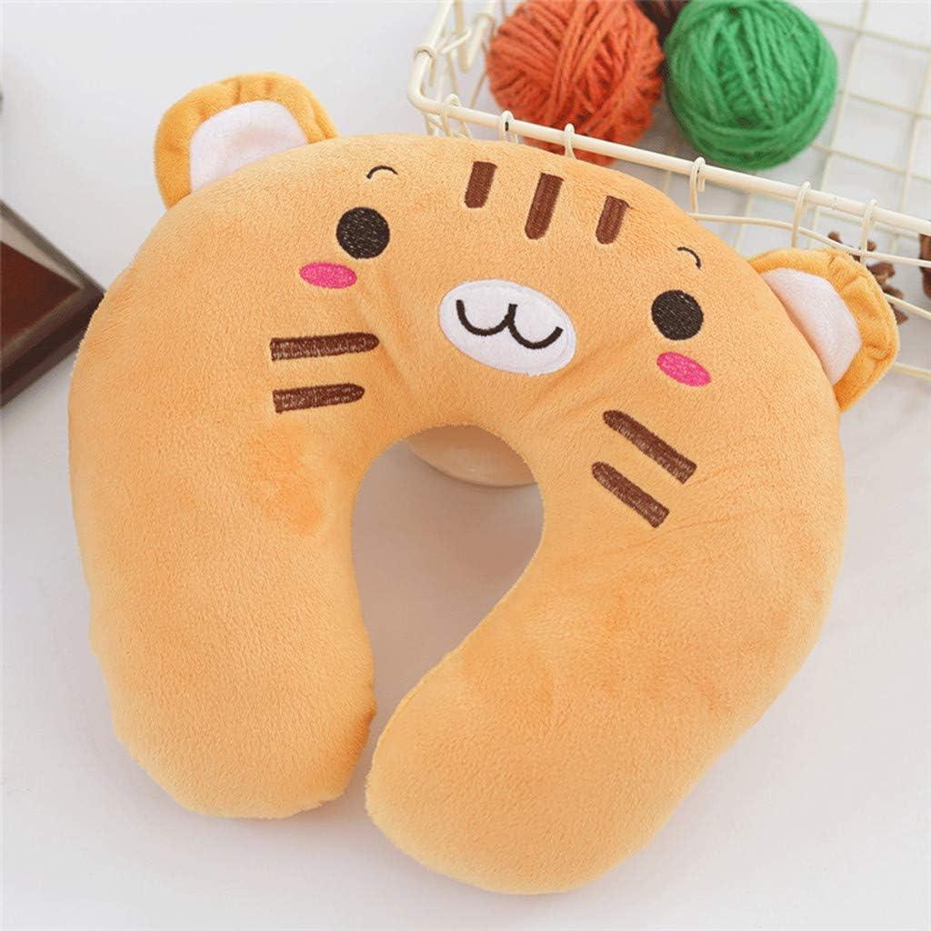 Psunrise La Almohada Travel Childrens Neck Pad Super Soft Cervical U-Shaped Pillow Toy Animal Cusion Green, 27 x 27 x 7 cm
