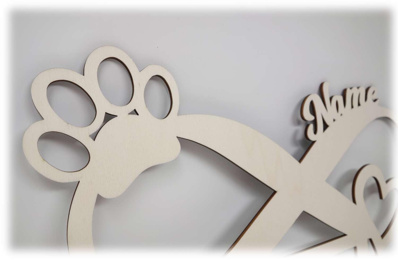 Hunde Pfoten Bilderrahmen 10x15 Individuell mit Namen Personalisiert ...