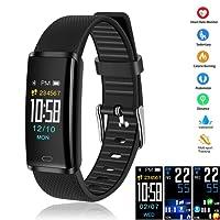 LETTURE Smartwatch Pulsera Inteligente, Reloj Inteligente Bluetooth Smart Watch Multifuncional Monitor de Actividad Rastreador de Fitness IP68 Impermeable para Hombres, Mujeres